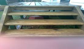 Decking stairs soft washed